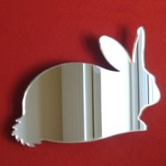 Bunny Rabbit Mirror - 5 Sizes Available.   Also available in packs of 10 Baby Rabbits for crafting and decorative use