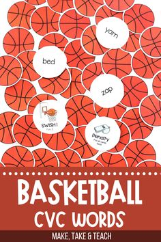 Your students will love learning to read CVC words with this basketball themed CVC word activity. Super easy to assemble and play. Tons of practice learning to read CVC words! Short Vowel Games, Short Vowel Activities, Short Vowels, Phonics Activities, Teaching Phonics, Teaching Reading, Learning, Kindergarten Literacy, Literacy Centers