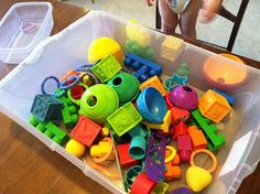 Rainbow Sorting Tub for Early Math