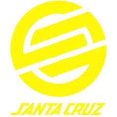 "Santa Cruz Skateboards Yellow Knot Logo Strip 3"" Sticker.  Please click on photo to purchase."