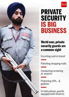Infographic: India has 5 times more private guards than police personnel - Times of India