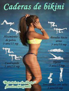 ¿Deseas tener una caderas envidiables para poder lucir tus bikinis en la playa? Entonces esta rutina de ejercicios deberá estar en tu programa.