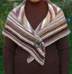 Easy Garter Stitch Shawl  pattern by Elaine Phillips