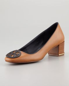 GREAT work shoe!! ~~Claudia Logo Low-Heel Pump by Tory Burch
