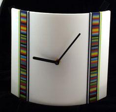 Striking Time, handmade fused glass clock by HollingdaleDesigns, via Flickr