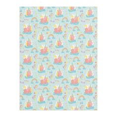 Unicorn and Rainbow Pattern Fleece Blanket - girl gifts special unique diy gift idea