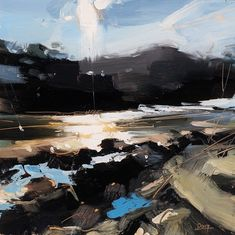 Hester Berry has always been interested in landscapes since growing up in rural Devon. In 2015 she painted Waddesdon Manor as part of the Sky Arts Landscape Artist of the Year. Landscape Artwork, Abstract Landscape Painting, Abstract Art, Ciel Art, Sky Art, Painting Inspiration, Land Scape, Contemporary Art, Art Photography