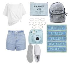 """blu pallido summer"" by benialiada on Polyvore featuring Topshop, Chanel, Vans, Red Herring, Forever 21 and Tiffany & Co."