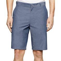 Calvin Klein Mens Chambray Slim-Fit Casual Shorts