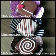 Cubinhos de chocolate maciço