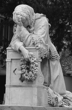 The Tomb of Arnold Savage Landor (1819-1871), Walter Savage Landor and Julia's son, in the English Cemetery The work of Michael Auteri Pomar, the monument is characterized by the large-scale sculpture of Landor's wife, Julia