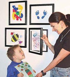 Another cute way to display kids artwork! Lil DaVinci Art Cabinet This… Art Cabinet, Kids Artwork, Childrens Artwork, Oeuvre D'art, Art For Kids, Kid Art, Framed Art, Kids Room, Kid Bedrooms