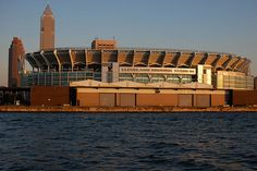 Cleveland Browns Stadium from Lake Erie' Cleveland, Ohio