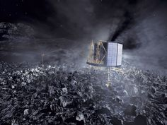 In August ESA's Rosetta Spacecraft will rendezvous with Comet and deploy the Philae lander. See photos from the Rosetta comet probe. Rosetta Spacecraft, Rosetta Mission, Space Probe, Alien Worlds, Space And Astronomy, Deep Space, Space Exploration, Outer Space, Solar System