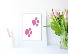 Pink Paws JPEG in 4 sizes by Clickatoos on Etsy