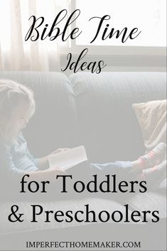 Bible Verses:Bible time ideas for toddlers and preschoolers. Great ideas for having family devotions when you have very young kids! Toddler Bible, Toddler Preschool, Toddler Activities, Bible Activities, Toddler Meals, Preschool Ideas, Parenting Toddlers, Good Parenting, Parenting Hacks