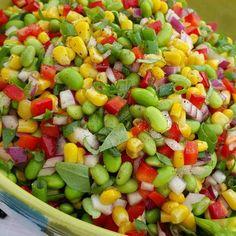 Edamame Summer BBQ Salad | Clean Food Crush