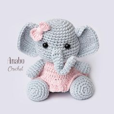 Click the image to view more about Amigurumi Elephant Free Crochet Pattern! Click the image to view more about Amigurumi Elephant Free Crochet Pattern! Crochet Elephant Pattern Free, Crochet Amigurumi Free Patterns, Crochet Animal Patterns, Stuffed Animal Patterns, Crochet Dolls, Free Crochet, Amigurumi Tutorial, Crochet Animals, Amigurumi Elephant