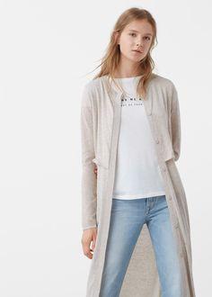 Cotton-blend cardigan -  Women | MANGO USA