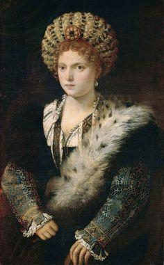 Titian (Tiziano Vecellio), Isabella d'Este (1534-36)