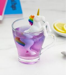 Add a bit of magic to your hot beverage by dropping in this unicorn tea infuser. This fanciful tea infuser is crafted from food-safe silicone and opens up right at the middle so that you can fill its hollow body with your favorite tea. Handmade Christmas Crafts, Handmade Ornaments, Felt Ornaments, Homemade Christmas, Christmas Gifts, Unicorn Birthday, Unicorn Party, Friend Birthday, Birthday Gifts