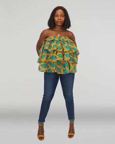 African Blouses, African Tops, Ankara Blouse, Latest African Fashion Dresses, Kitenge, Ankara Fabric, Layered Tops, African Attire, Maternity Dresses