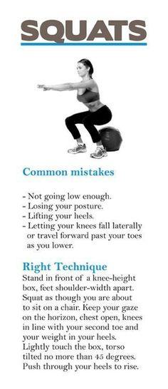 proper squat technique
