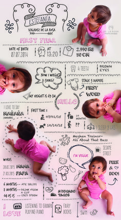 Cute baby infographic. Make your own: http://etsy.me/1NDpptH  First year