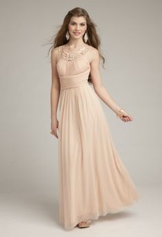 Long Dresses - Long Grecian Mesh Prom Dress from Camille La Vie and Group USA