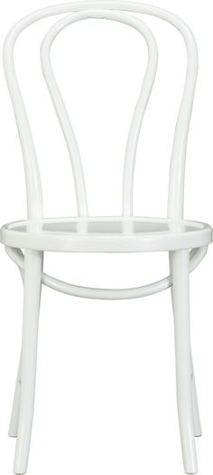 Vienna White Side Chair  | Crate and Barrel