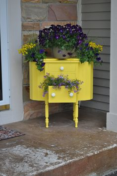 Container Gardening Creativity: 10 Fun Ideas for Flowers! | A Pop of Pretty: Canadian Decorating Blog | Finding the pretty in an every day home | Affordable home decor ideas tips tutorials inspiration |St Johns NL