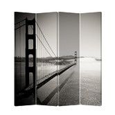 """Found it at Wayfair - 71"""" x 69"""" Double Sided Painted Canvas 4 Panel Room Divider"""