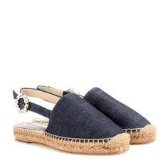 Denim-Espadrilles Mit Kristallen - Dolce & Gabbana ✽ mytheresa.com