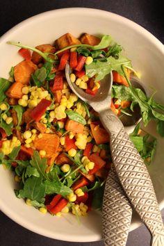 Corn & Sweet Potato Salad with Balsamic Dressing.