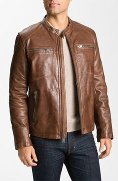 Marc NY Distressed Leather Jacket