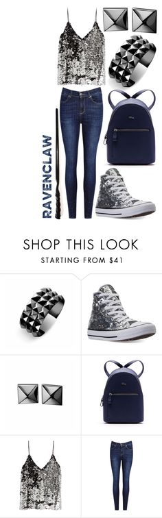 """""""Modern Witches: Ravenclaw #2"""" by rainbowfashionunicorn ❤ liked on Polyvore featuring Waterford, Converse, Lacoste, Samsøe & Samsøe and modern"""