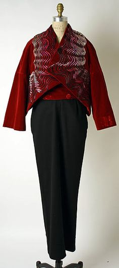 Ensemble, Evening House of Schiaparelli (French, 1928–1954) Designer: Hubert de Givenchy (French, born Beauvais, 1927) Date: ca. 1952 Culture: French Medium: silk