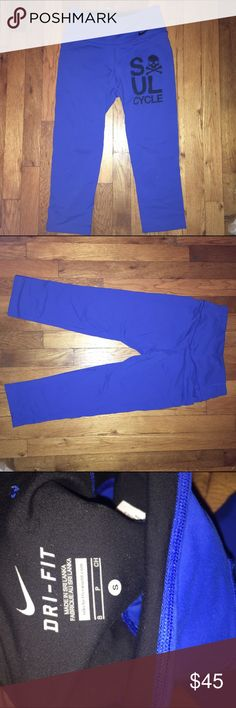 Blue Nike dri-fit leggings Blue Nike fro-fit leggings. Great condition. Nike Pants