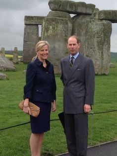 twitter-salisbury journal:  The Earl and Countess of Wessex at Stonehenge, May 1, 2014