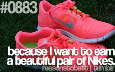 because I want to earn a beautiful pair of Nikes.