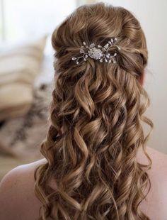 Wedding Hairstyles: Pretty Half up Half down | Wedding, Wedding ...