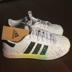 Rare Limited Edition Rainbow Adidas Superstars Rare limited edition rainbow lgbt adidas that are no longer sold by adidas and are selling for $300. Worn once, but in amazing condition! Adidas Shoes Sneakers
