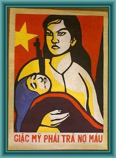 During the war North Vietnam, Vietnam War, Buddha Artwork, Communist Propaganda, Political Posters, American War, Poster On, Popular Culture, Cool Pictures