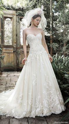 dresses pretty a line bridal ball gown detachable straps strapless sweetheart neckline  lace pearl embellishment dallsandra