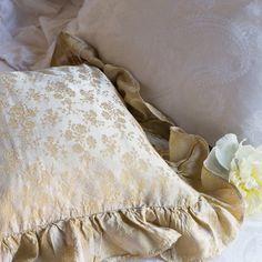 Bella Notte Decorative Square Pillow Colette Satin Jacquard @LaylaGrayce