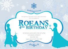 Digital Princess Birthday Invitations  by eventsbydesign on Etsy, $15.00