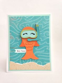 Courtney Lane Designs: Best Fishes card made using the Animal Antics cartridge and the Under the Sea stamp set.