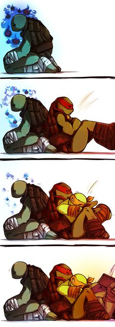 Supportive TMNT | Hitodama by pirate-pet.deviantart.com on @deviantART