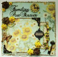 ELITE4U Donna Premade 12x12 Layout Page Album Distressed Shabby Prima