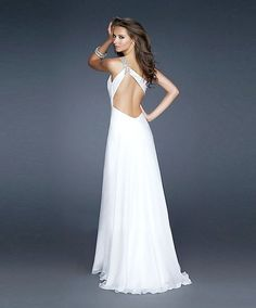 A-line One-Shoulder Floor-length Chiffon Prom Dress  Marine Corp Ball 2013